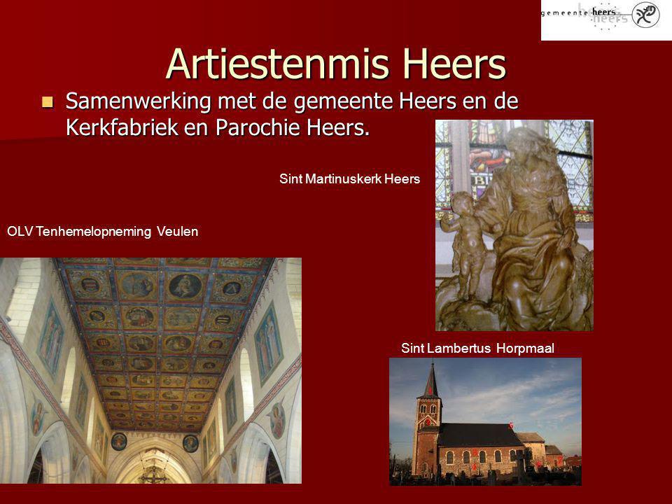 Artiestenmis Heers Samenwerking met de gemeente Heers en de Kerkfabriek en Parochie Heers.