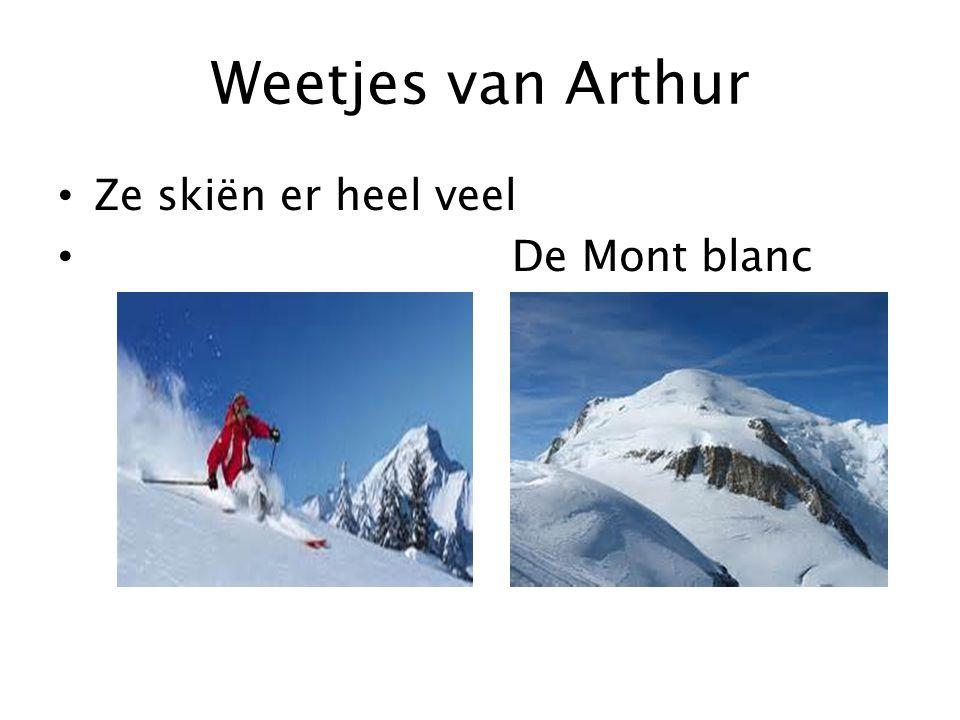 Weetjes van Arthur Ze skiën er heel veel De Mont blanc