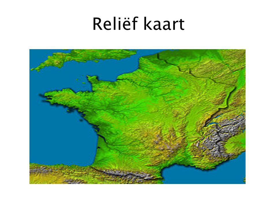 Reliëf kaart