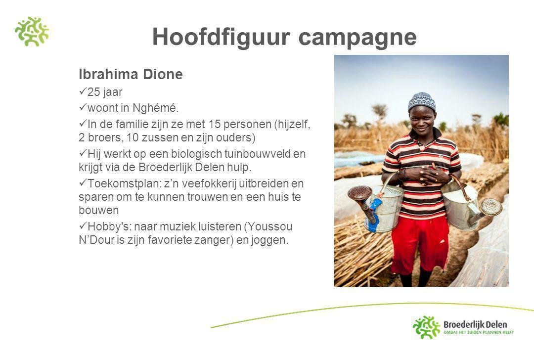 Hoofdfiguur campagne Ibrahima Dione 25 jaar woont in Nghémé.