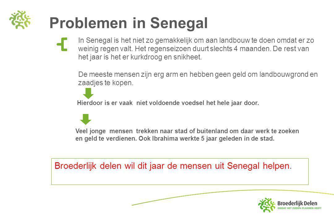 Problemen in Senegal Broederlijk delen wil dit jaar de mensen uit Senegal helpen.