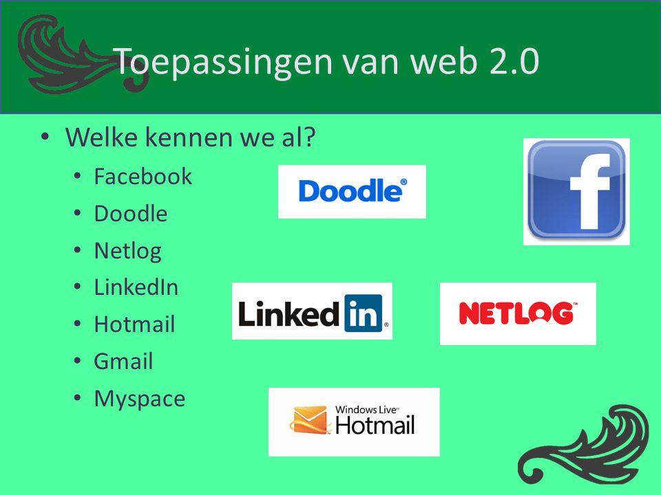 Diigo Social bookmarking website Favoriete websites handig bijhouden Aantekeningen en commentaren Publiek of privé Toolbar: delen van website bookmarken, highlighten of notitie toevoegen Indelen in categorieën RSS-feeds