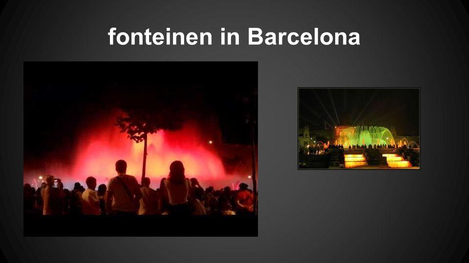 fonteinen in Barcelona