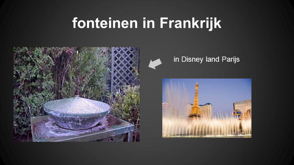 fonteinen in Frankrijk in Disney land Parijs