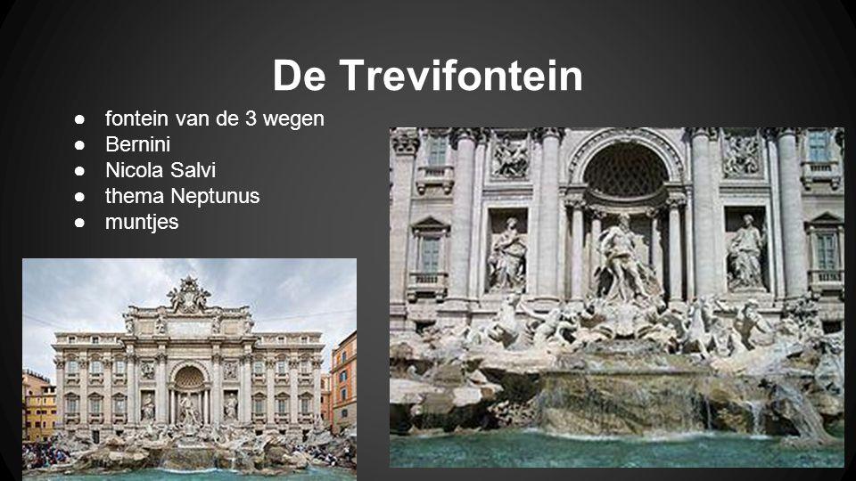 De Trevifontein ●fontein van de 3 wegen ●Bernini ●Nicola Salvi ●thema Neptunus ●muntjes