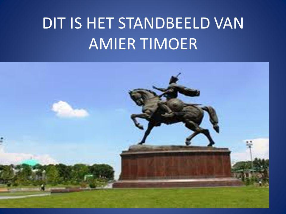 DIT IS HET STANDBEELD VAN AMIER TIMOER