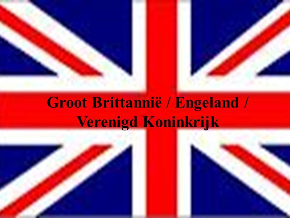 ALGEMEEN  West-Europa  Verenigd Koninkrijk bestaat uit:  England -> Londen England  Scotland -> EdinburghGroot-Brittannië Scotland  Wales -> Cardiff Wales  Noord-Ierland -> Belfast Noord-Ierland  Engeland grootste, Wales kleinst  Slechts 35 km van Frankrijk -> tunnel  Engeland 50 miljoen inwoners; 130000 km