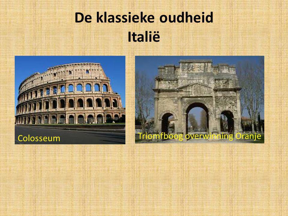 De klassieke oudheid Italië Colosseum Triomfboog overwinning Oranje