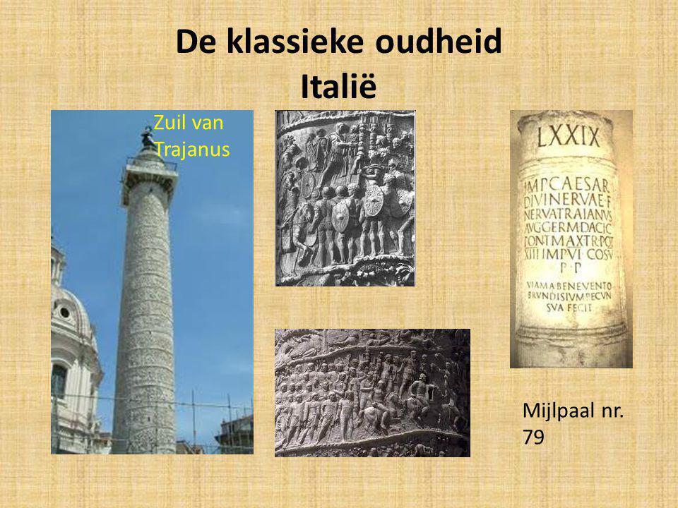 De klassieke oudheid Italië Zuil van Trajanus Mijlpaal nr. 79