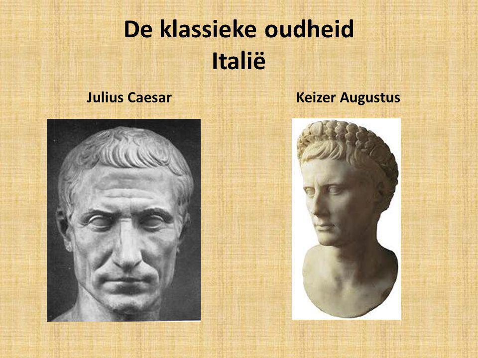 De klassieke oudheid Italië Julius CaesarKeizer Augustus