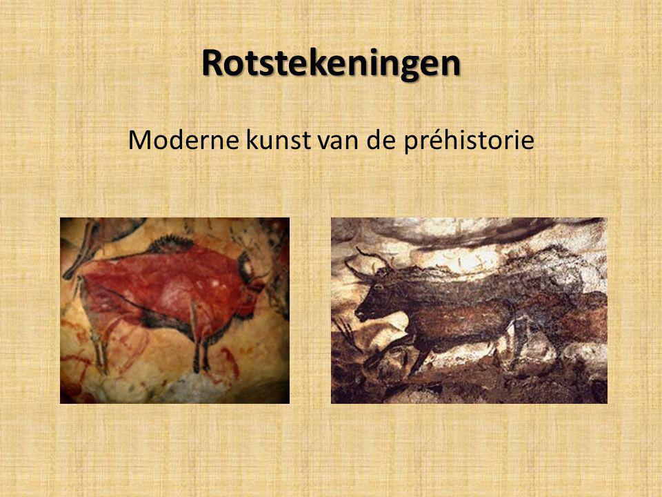Rotstekeningen Moderne kunst van de préhistorie