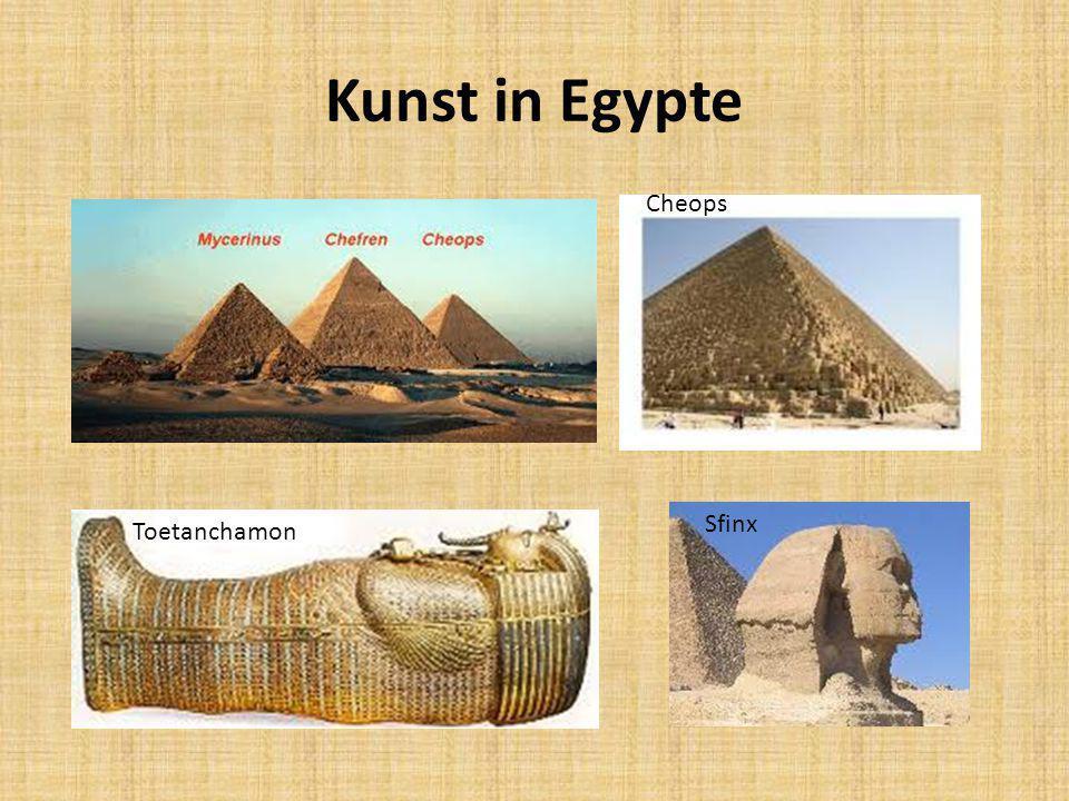 Kunst in Egypte Toetanchamon Sfinx Cheops
