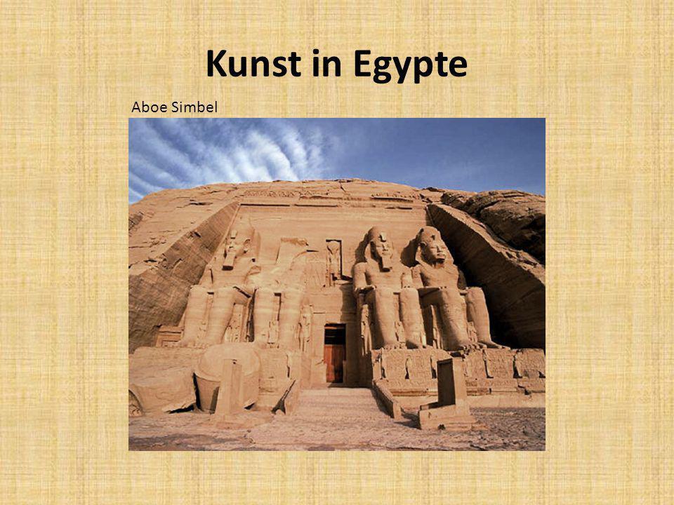 Kunst in Egypte Aboe Simbel