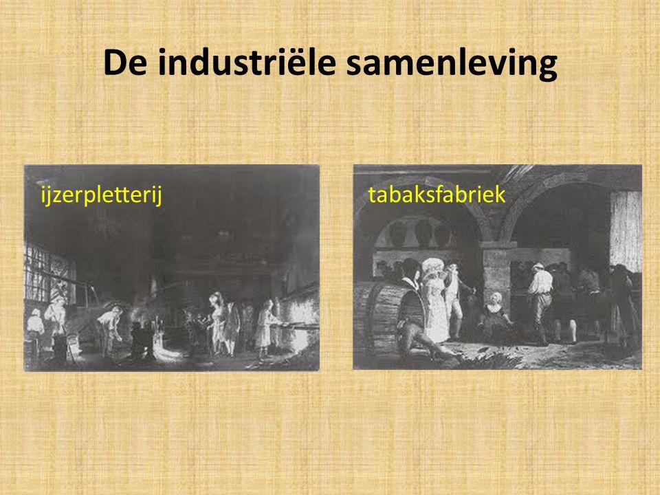 De industriële samenleving ijzerpletterijtabaksfabriek