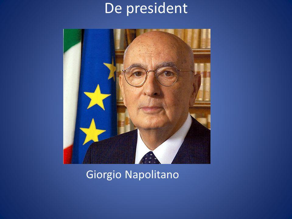 De president Giorgio Napolitano