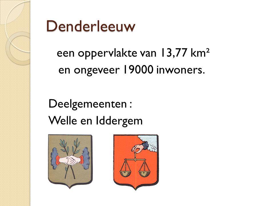 Denderleeuw een oppervlakte van 13,77 km² en ongeveer 19000 inwoners. Deelgemeenten : Welle en Iddergem