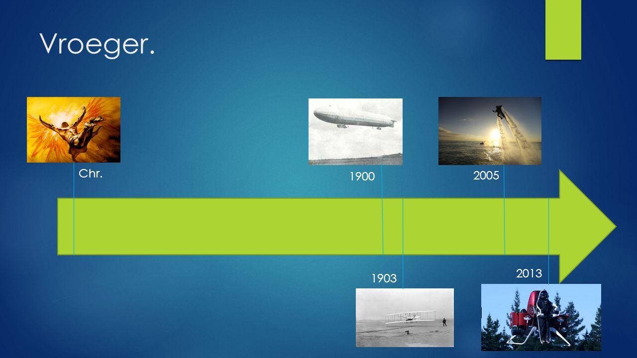 Vroeger. 1903 1900 Chr. 2005 2013