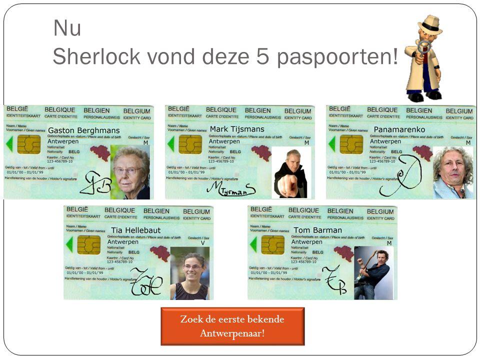 Nu Sherlock vond deze 5 paspoorten! Zoek de eerste bekende Antwerpenaar!