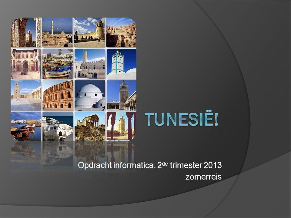 Opdracht informatica, 2 de trimester 2013 zomerreis