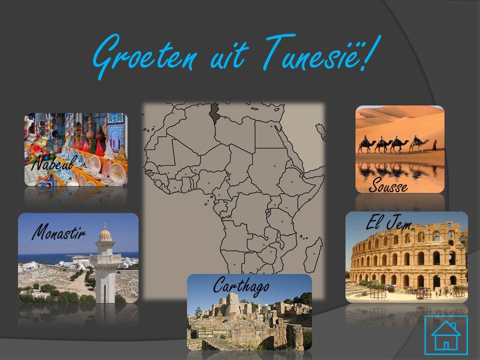 Groeten uit Tunesië! Sousse Carthago Nabeul El Jem Monastir