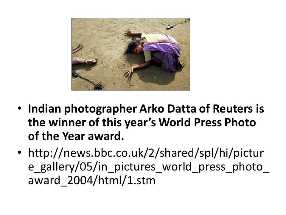Indian photographer Arko Datta of Reuters is the winner of this year's World Press Photo of the Year award. http://news.bbc.co.uk/2/shared/spl/hi/pict