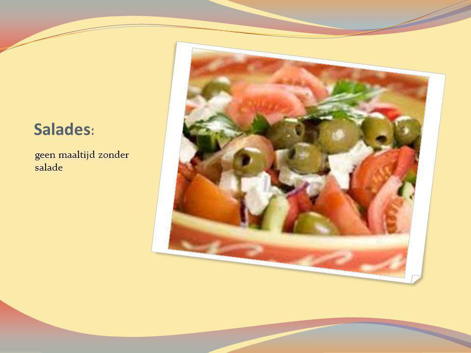 Salades : geen maaltijd zonder salade