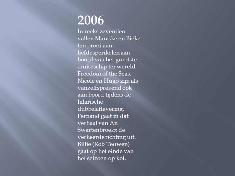 2005 Het terrein van de buitenopnames, die sinds de start van FC De Kampioenen in Emblem plaatsvinden, wordt niet langer aan voetbalclub KFC Michiel m