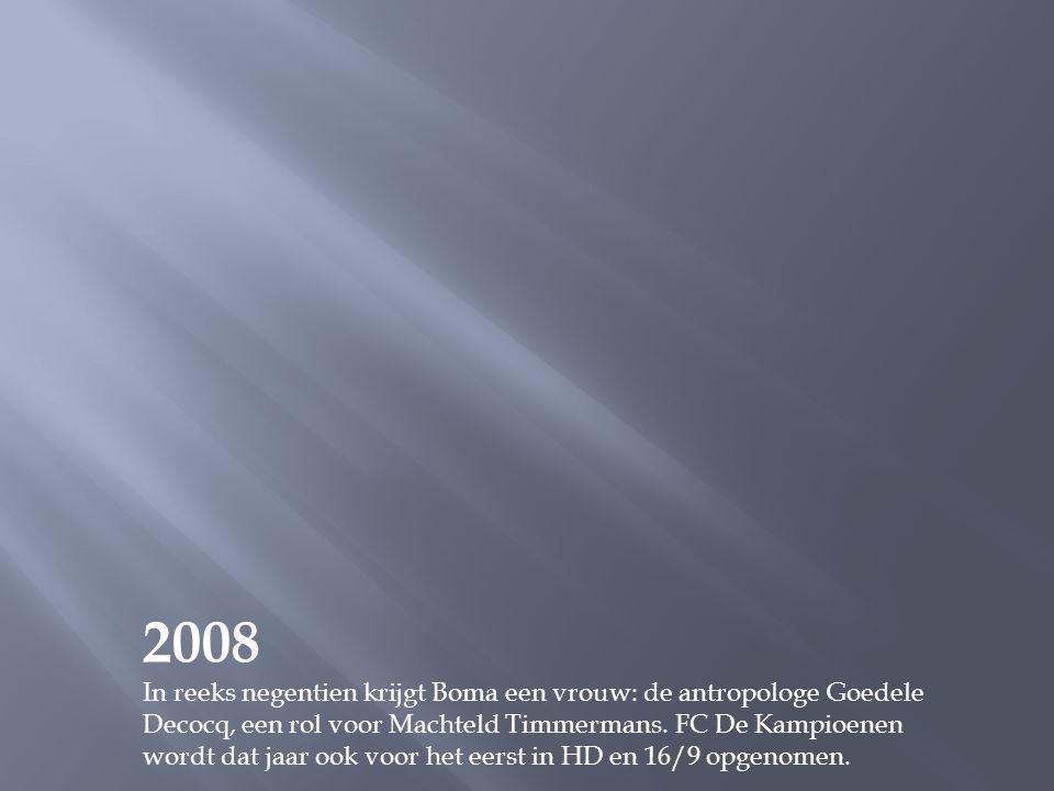 2007 De reeks valt (opnieuw) in de prijzen, deze keer met de BVN-trofee 2006. Dat is de prijs voor het populairste televisieprogramma op BVN, de zende