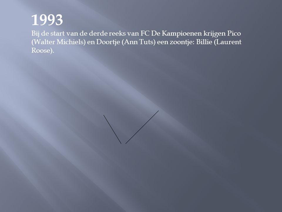 1991 De uitzending van 7 december haalt 1.767.000 kijkers en een waardering van 86. De stuntelige reporter van Radio Hallo, Marcske Vertongen (een rol