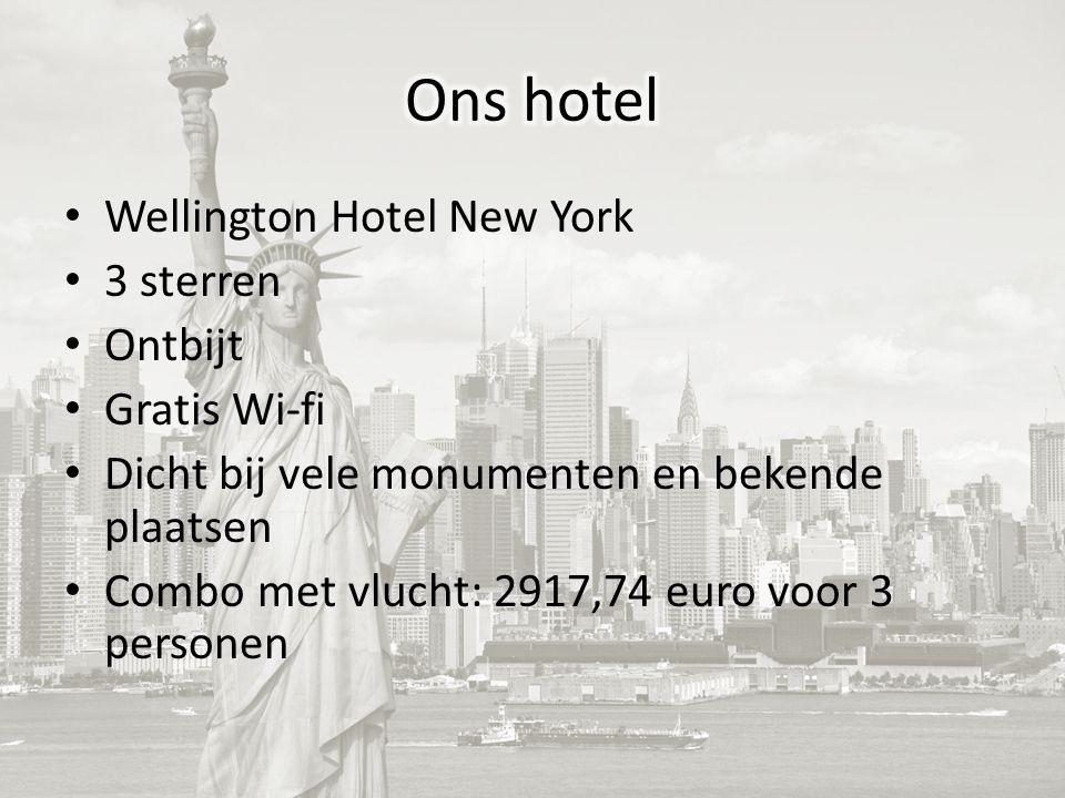 Wellington Hotel New York 3 sterren Ontbijt Gratis Wi-fi Dicht bij vele monumenten en bekende plaatsen Combo met vlucht: 2917,74 euro voor 3 personen