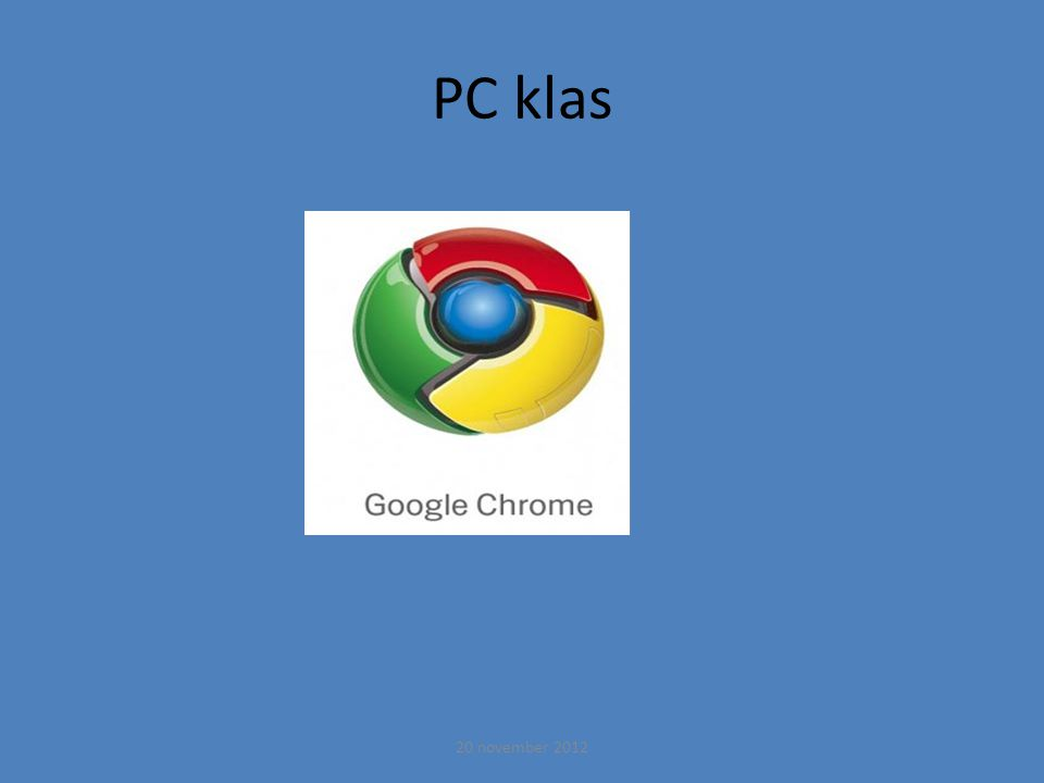 PC klas 20 november 2012