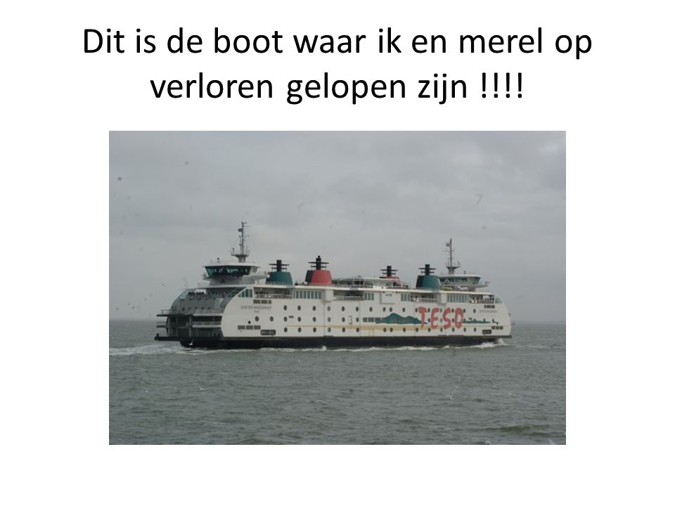 Dit is de boot waar ik en merel op verloren gelopen zijn !!!!