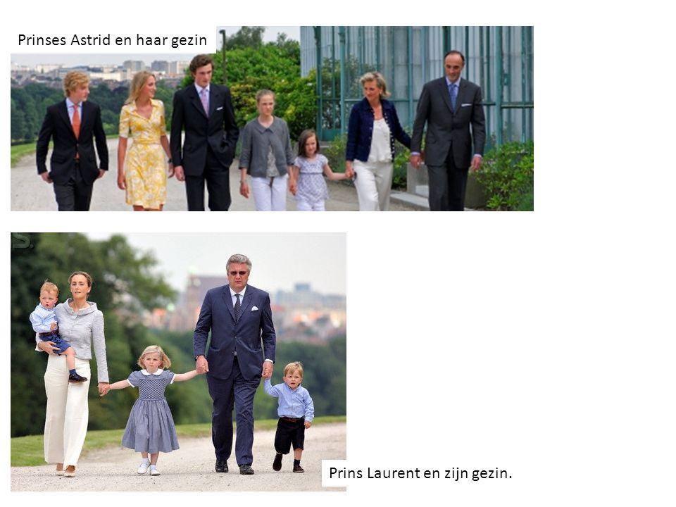 Prinses Astrid en haar gezin Prins Laurent en zijn gezin.