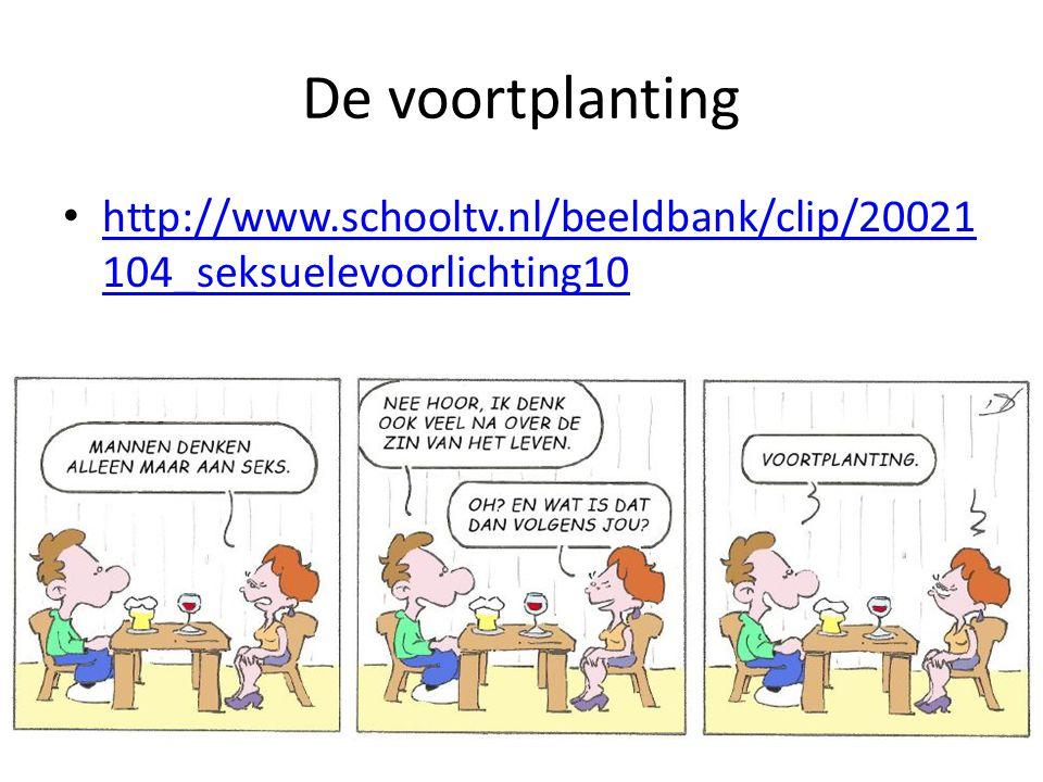 De voortplanting http://www.schooltv.nl/beeldbank/clip/20021 104_seksuelevoorlichting10 http://www.schooltv.nl/beeldbank/clip/20021 104_seksuelevoorli