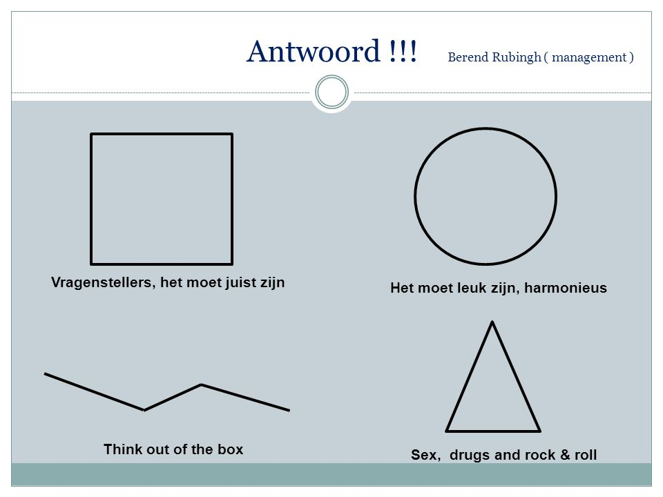 Antwoord !!.