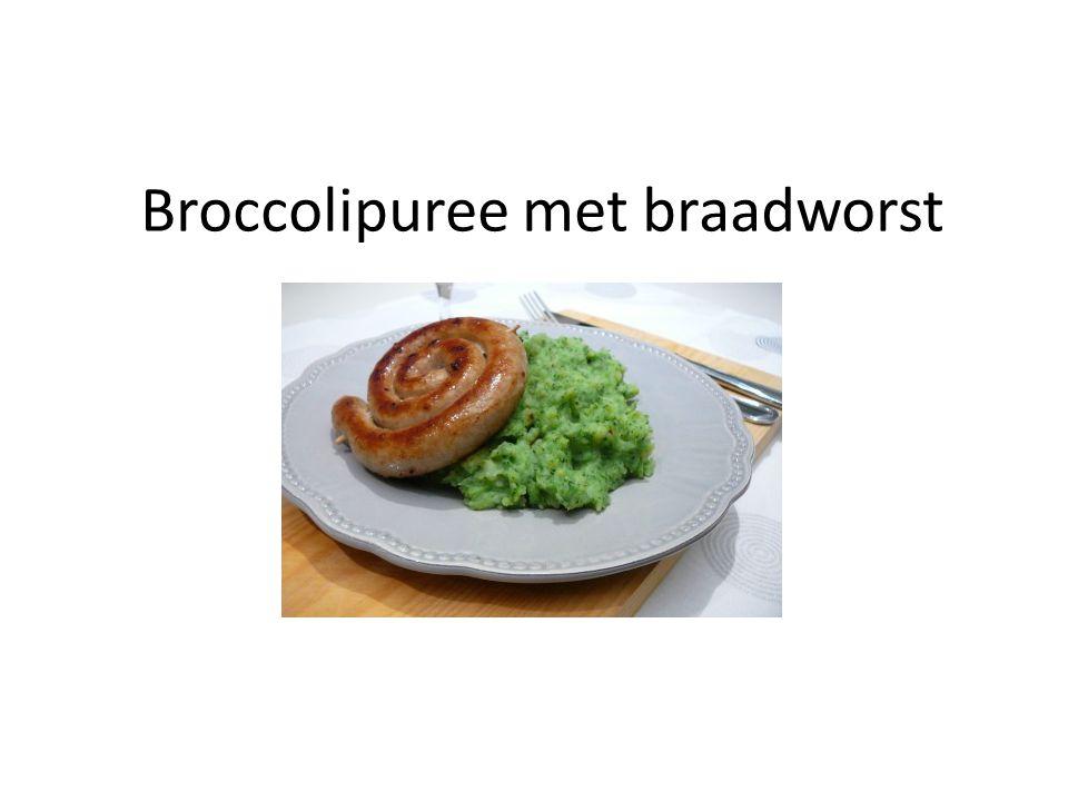 Broccolipuree met braadworst