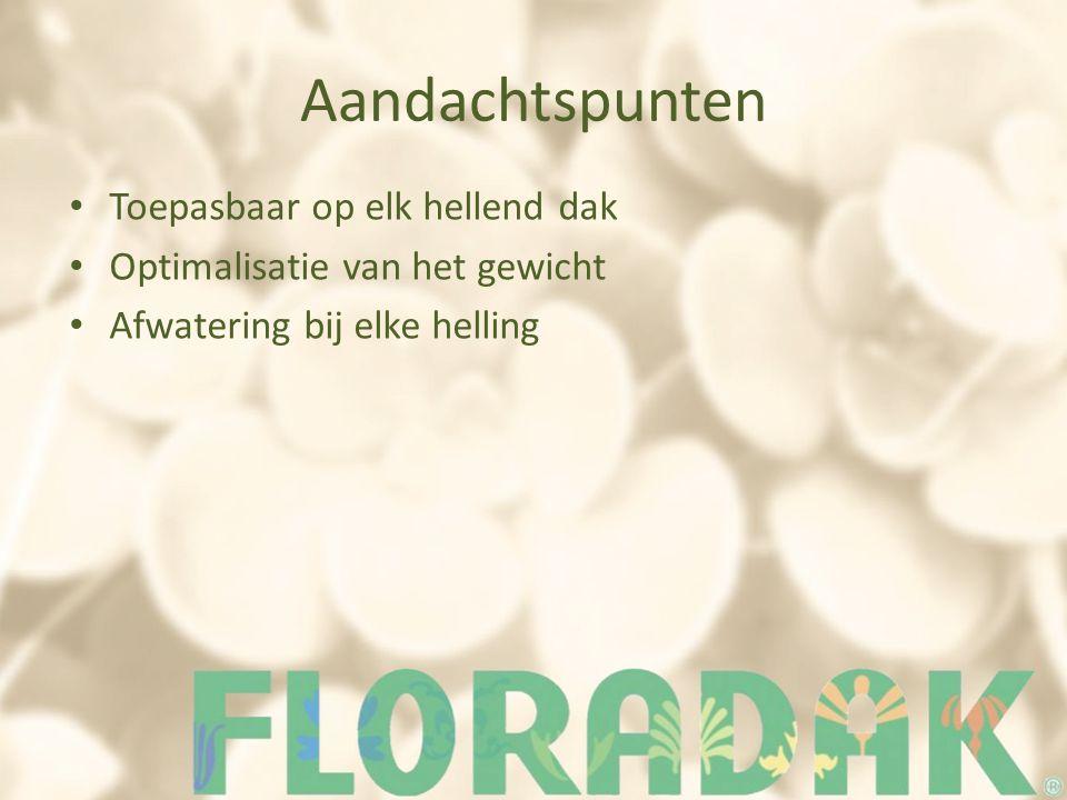 De markt In België – Floradak – Greenergy – Fyto bvba – Ecoworks – Daktuinpakket (ook nl) In Nederland – Green roof – Groendaktotaal Internationaal – Sempergreen