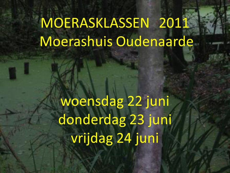 MOERASKLASSEN 2011 Moerashuis Oudenaarde woensdag 22 juni donderdag 23 juni vrijdag 24 juni