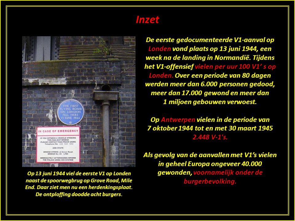 Inzet Op 20 december 1942 vond mogelijk al een aanval met een V1 of anders een voorloper van de V1 plaats in Blerick, Venlo, maar zeker is dit niet. D