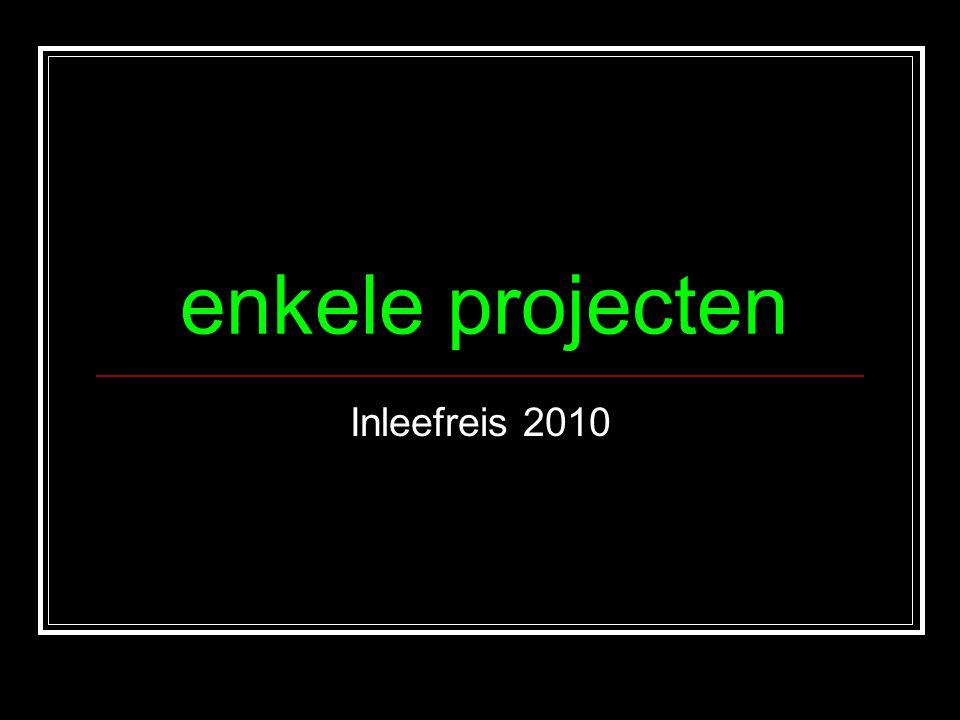 enkele projecten Inleefreis 2010