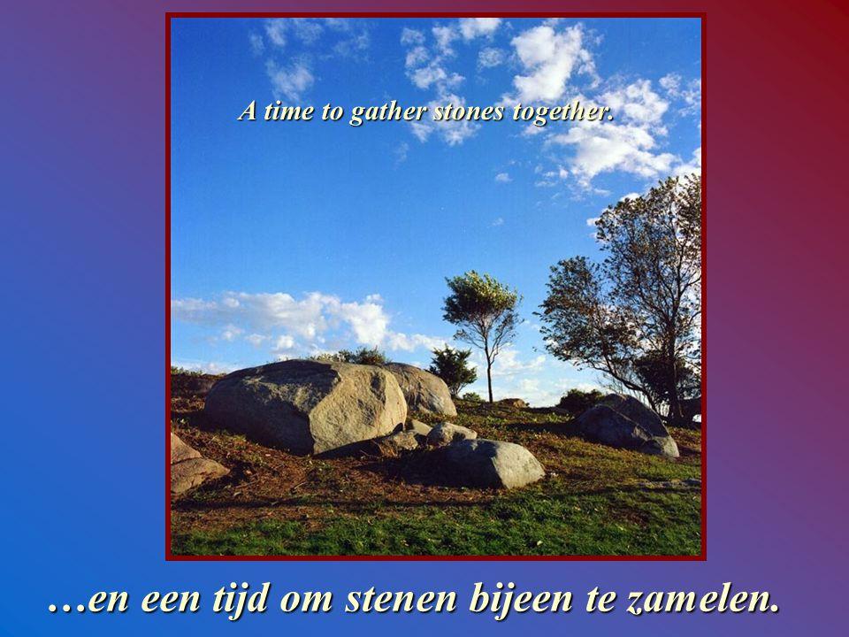 And a time to cast away stones. Een tijd om stenen te werpen…