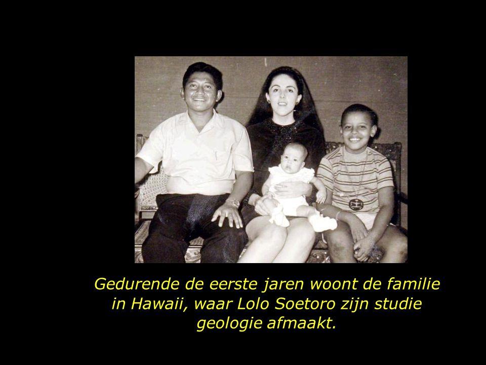 In zijn nieuwe gezin heeft Obama, behalve een zusje, nu ook een stiefvader, Lolo Soetoro, van Indonesische nationaliteit.