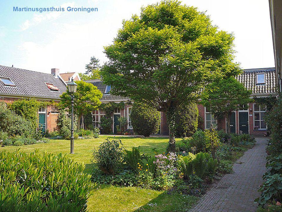 Haarlem Hofje in den groene tuin