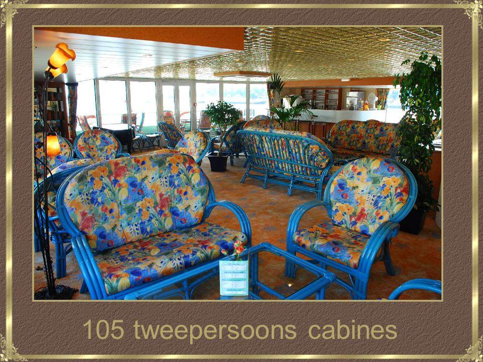 105 tweepersoons cabines
