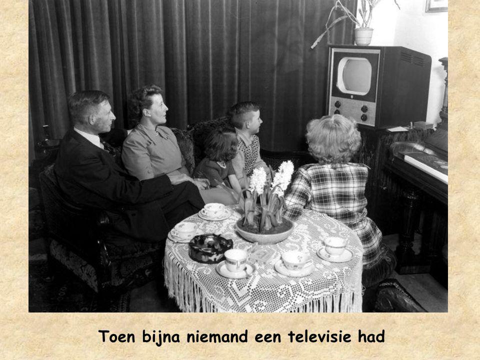 Toen bijna niemand een televisie had