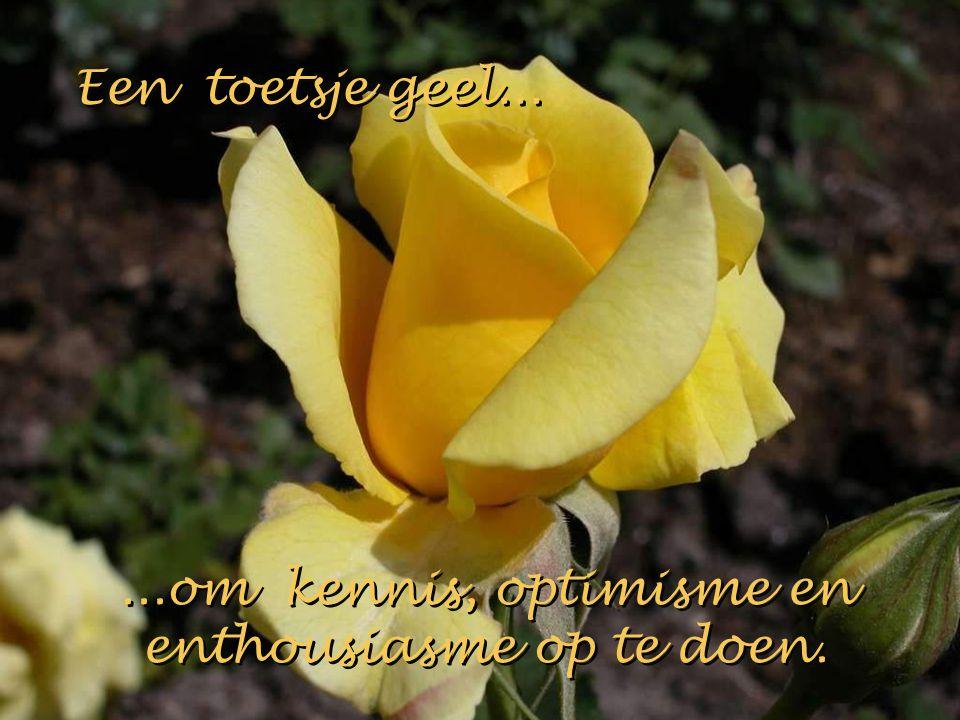 Een toetsje geel...