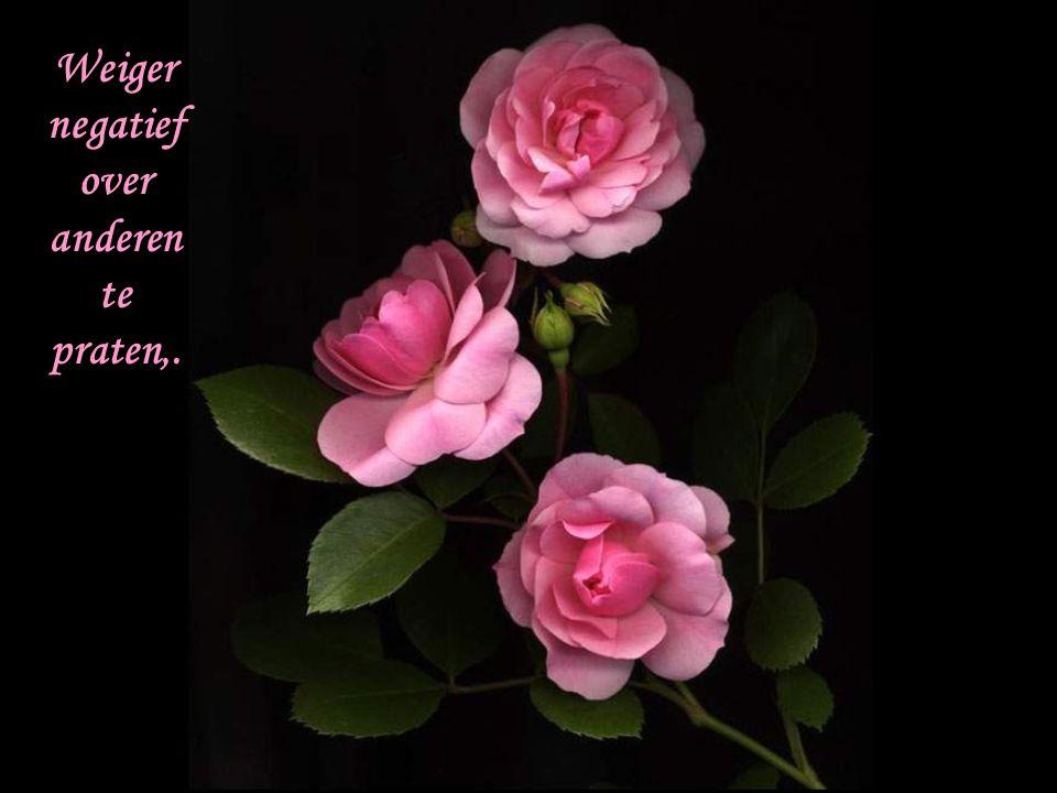Mis nooit de kans iemand een complimentje te geven of iets te zeggen om iemand aan te moedigen.