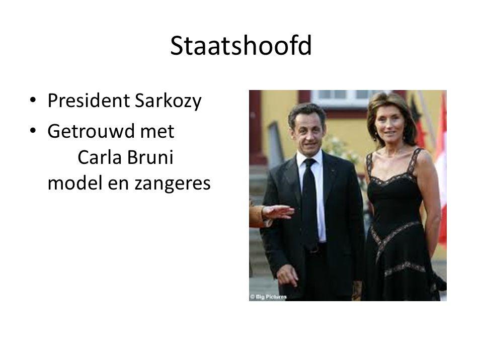 Staatshoofd President Sarkozy Getrouwd met Carla Bruni model en zangeres