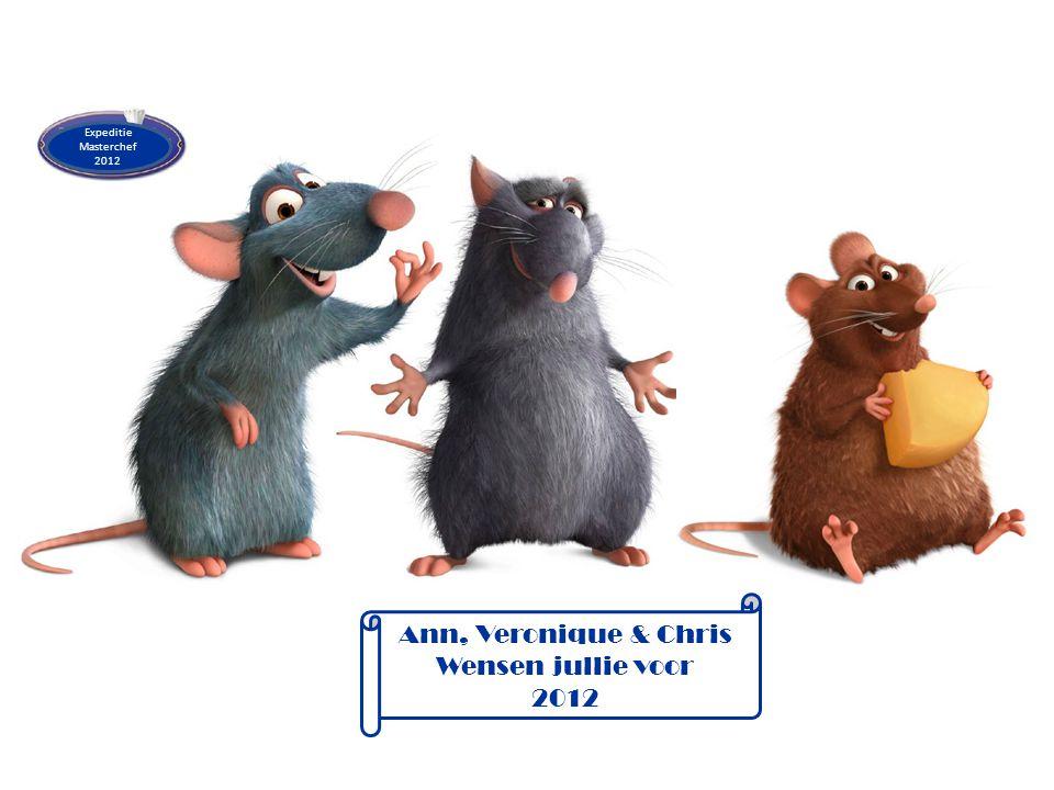 Expeditie Masterchef 2012 Ann, Veronique & Chris Wensen jullie voor 2012
