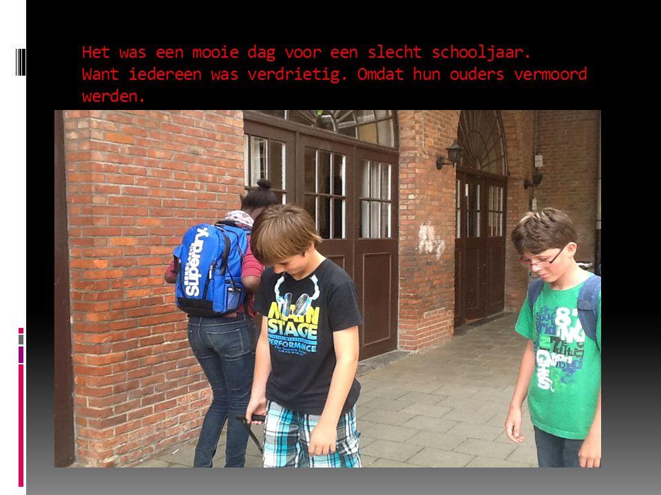 Het was een mooie dag voor een slecht schooljaar. Want iedereen was verdrietig.